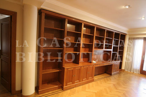 Bibliotecas Modernas O Clasicas En Madera O Laqueadas Blancas La - Bibliotecas-de-madera